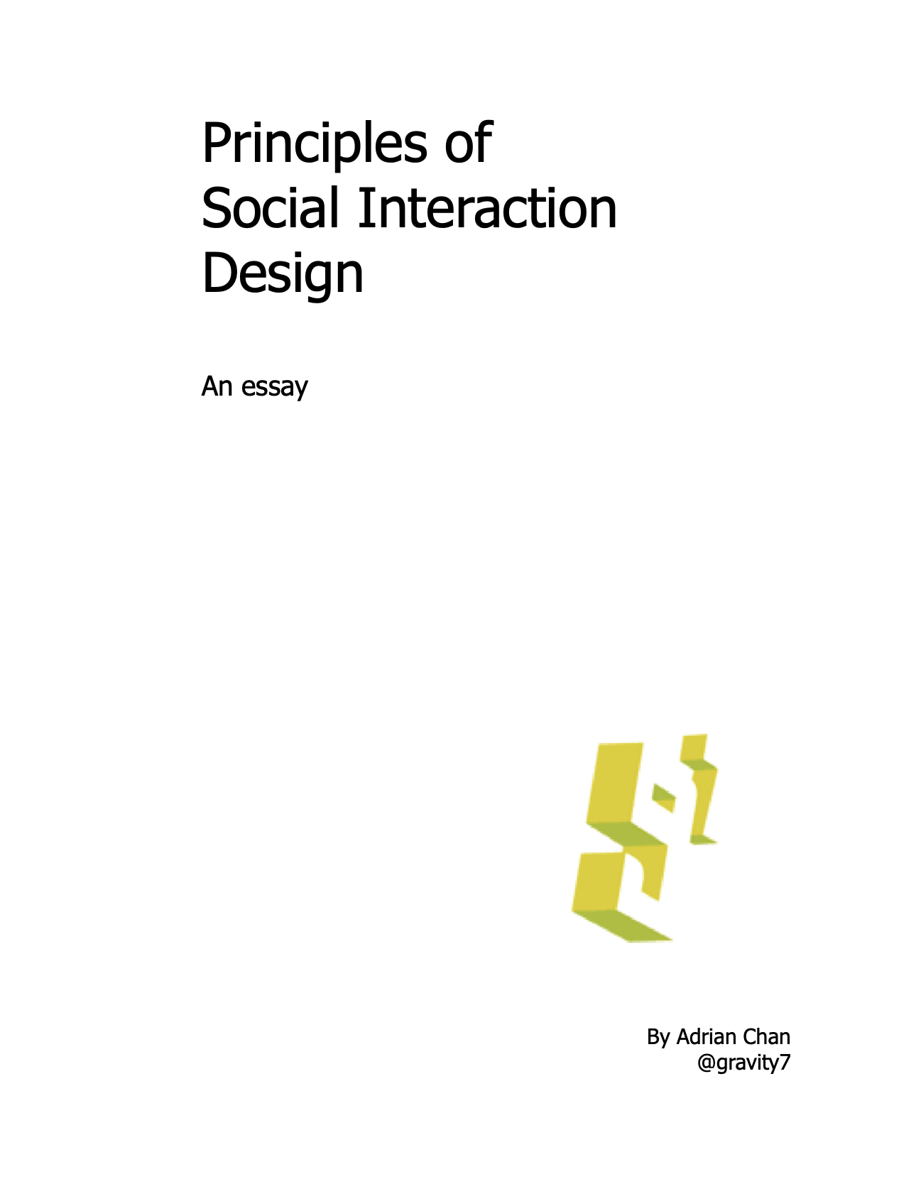 Principles of Social Interaction Design